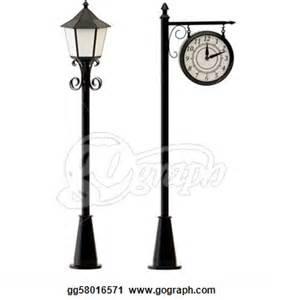 Lamp Post clipart black and white Black White Art Light Post