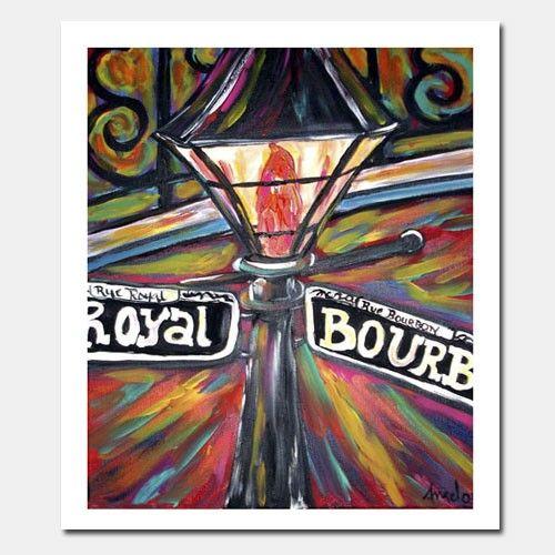 Lamp Post clipart bourbon street Street post Orleans me Print