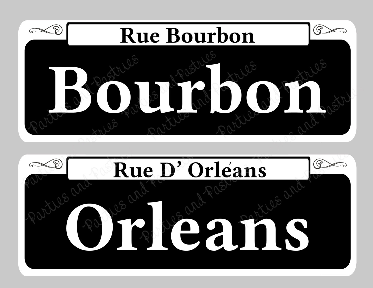 Lamp Post clipart bourbon street Of Mardi SIGNS Signs Etsy