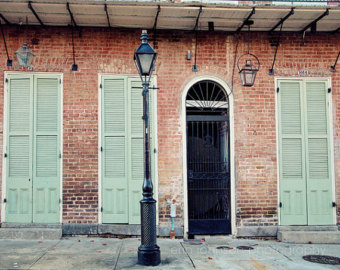 Lamp Post clipart french quarter French decor post photography blue