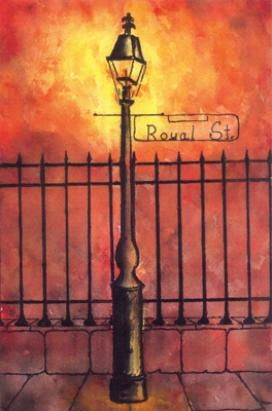 Lamp Post clipart french quarter New Search New lamp art