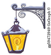Lamp Post clipart old style Street lamppost Drawing · GoGraph
