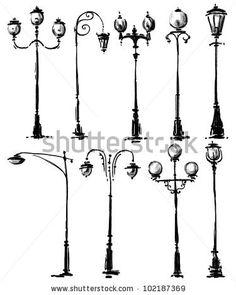 Lamp Post clipart ornate Collection via photo Falko illustration