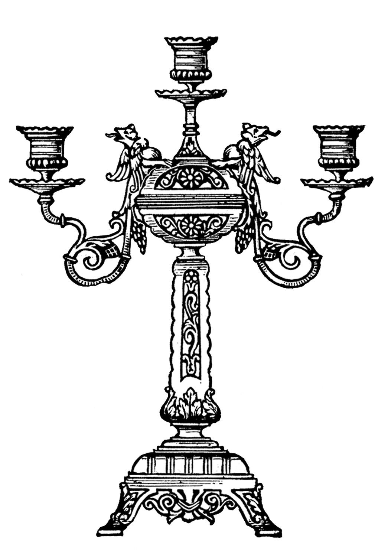 Lamp Post clipart ornate Art Vintage Art The Ornate