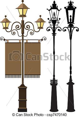 Lamp Post clipart poste Clipart  set post csp7470140