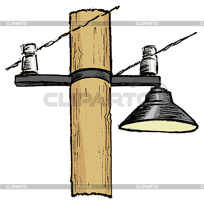 Lamp Post clipart poste Illustration and CLIPARTO © EPS