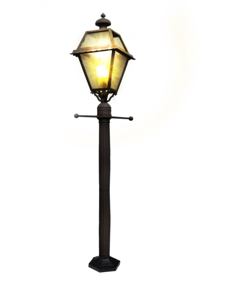 Street Light clipart post МАФы  Clock PSD by