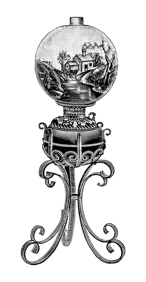 Lamp Post clipart victorian Lamp • Vintage Clipground The