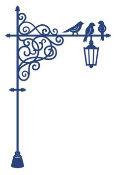 Lamp Post clipart victorian Wrought Lace Decal Dies Post