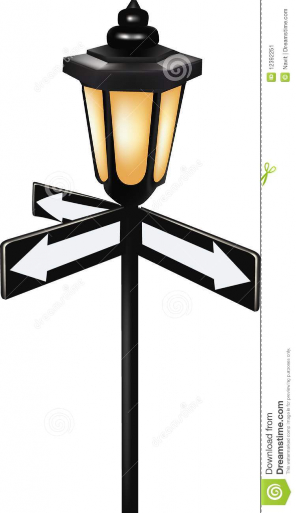 Lamp Post clipart vintage Antiques Post Iron  For