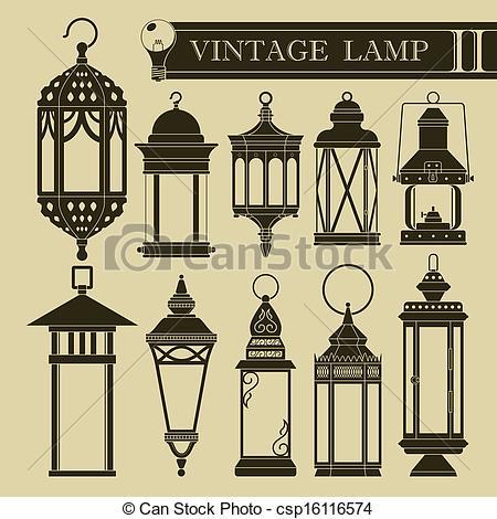 Lamp Post clipart vintage Vector Vectors II Illustration lamp