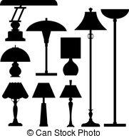 Lamps clipart Vector  vector set of