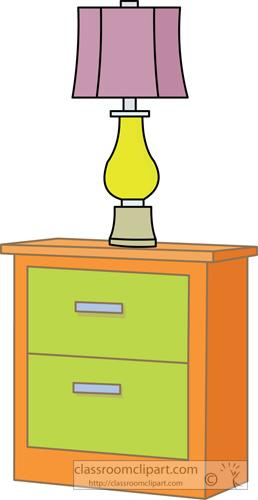 Lamps clipart bedroom furniture Bedroom_nightstand_with_lamp jpg Classroom Clipart :