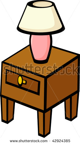 Lamps clipart bedroom furniture Clipart End Table Clipart Lamp