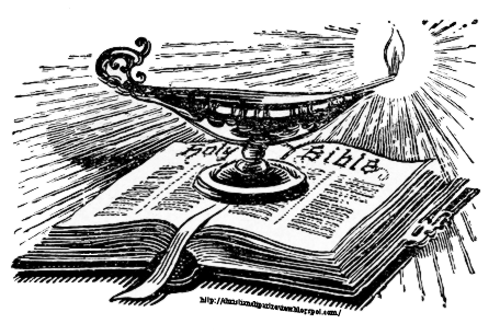 Oil Lamp clipart biblical Top of lighted Bible Review