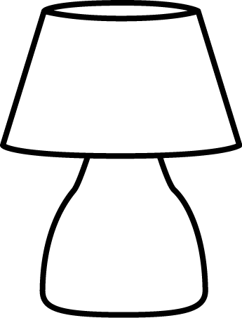Lamps clipart black object And White more Clip Lamp