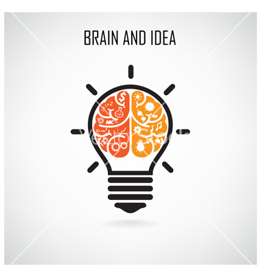 Lamps clipart brain Creative  by vector and