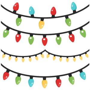 Christmas Lights clipart old fashioned For outs cute scrapbook on