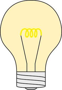 Retro clipart lightbulb #11