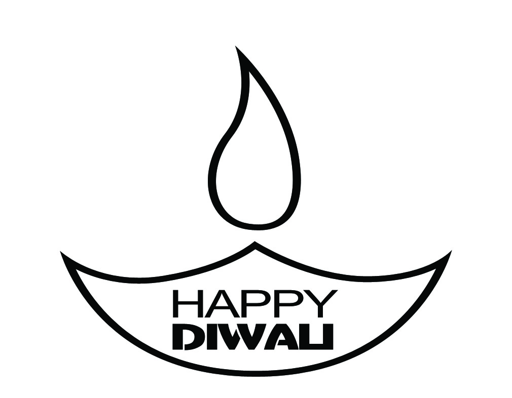 Black & White clipart diwali diya 2016: pictures Diwali Diwali Collected