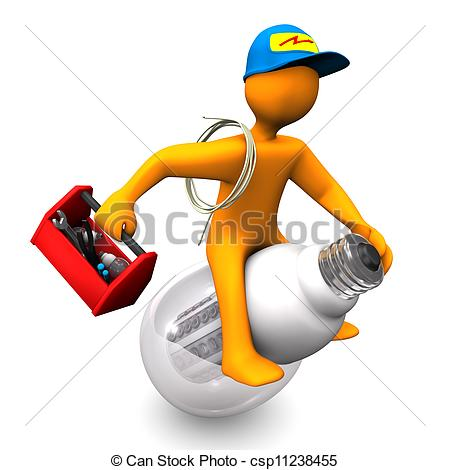 Electrical clipart lamp On Orange  cartoon Rides