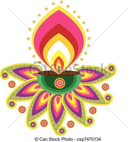 Lamps clipart indian oil Csp7470134 Vector Indian  EPS