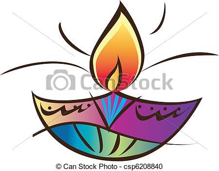 Oil Lamp clipart hindu Oil Indian Vector oil Art