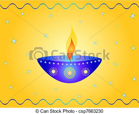 Lamps clipart indian oil Lamp of Diwali Illustration lamp