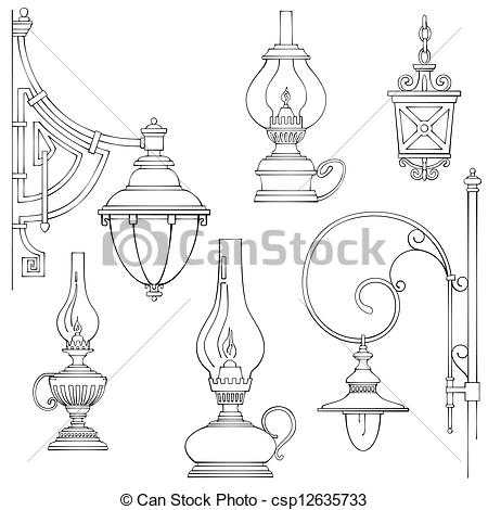 Lamps clipart lampara Vintage lamps lamps gas of
