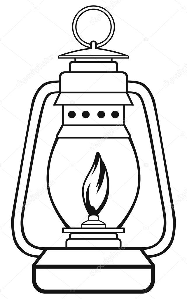 Lamps clipart lampara Oil Vector Stock lamp oil
