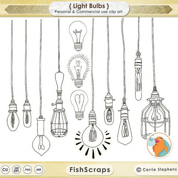 Lamps clipart light globe Light String Edison Art Light