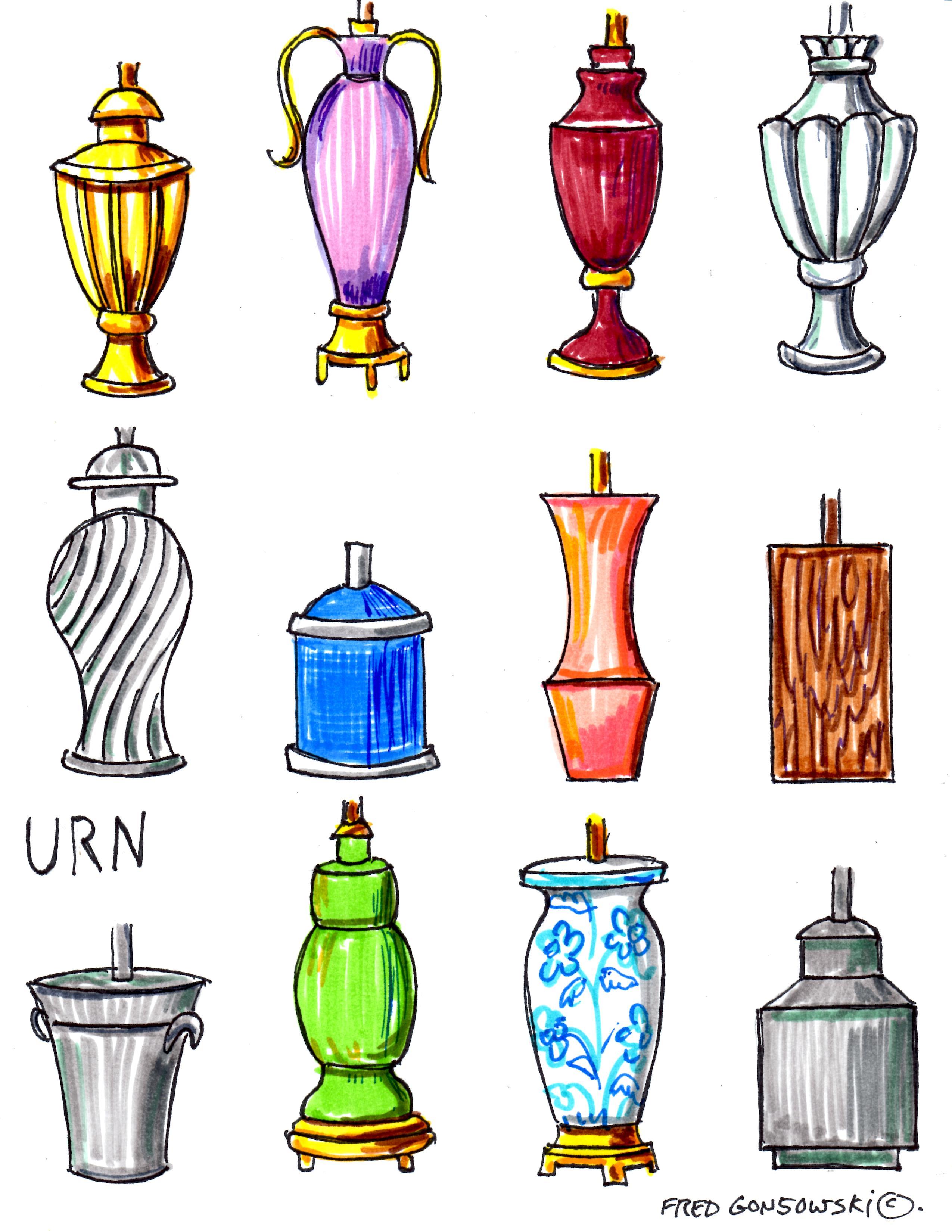 Lamps clipart many Shapes Lamp at Bases Lamp