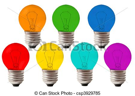 Lamps clipart many Collage many color lamps collage