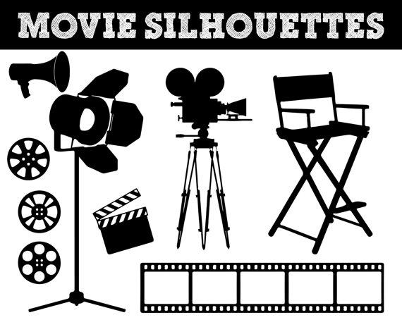 Lamps clipart movie Movie clip art art Silhouettes