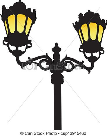 Lamps clipart old fashioned Old lamp Vector street street