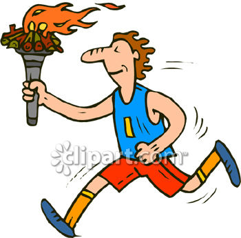 Torch clipart cartoon Olympic Clipart Runner Clipart Olympic