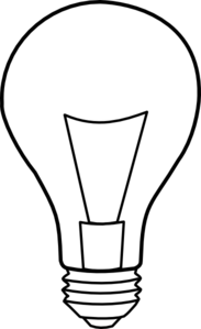 Lamps clipart outline Bulb online com Art at