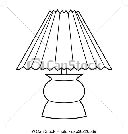Lamps clipart outline Decorative  outline illustration of