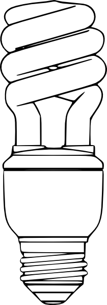 Drawn lamp cfl bulb Com clip vector this