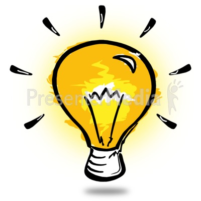 Lamps clipart thinker Presentation Sketch Light jolly 14170