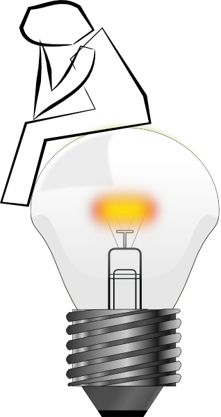 Lamps clipart thinker Art Clip Bulb Page Thinking