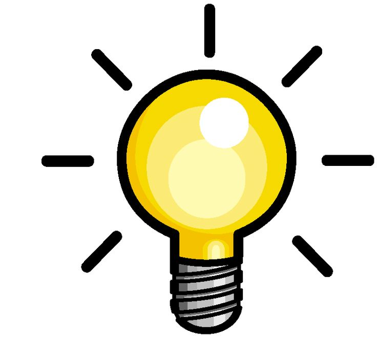 Lamps clipart thinking Graphic bulb Light best on