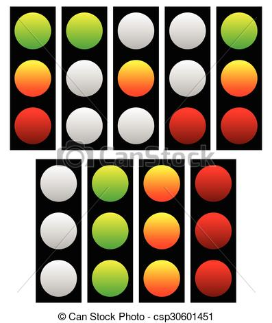 Lamps clipart yellow Vector traffic of Green and