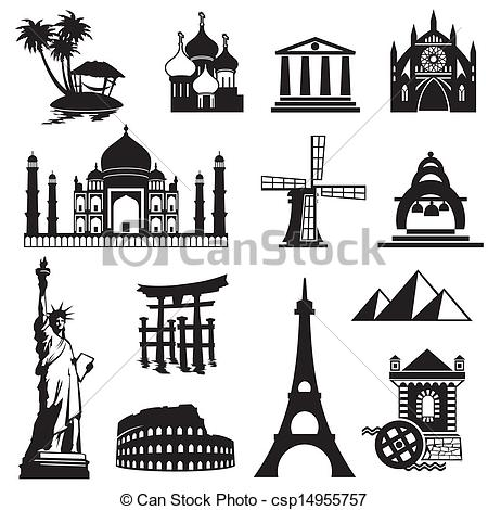 Landmark clipart famous place York · icons EPS of