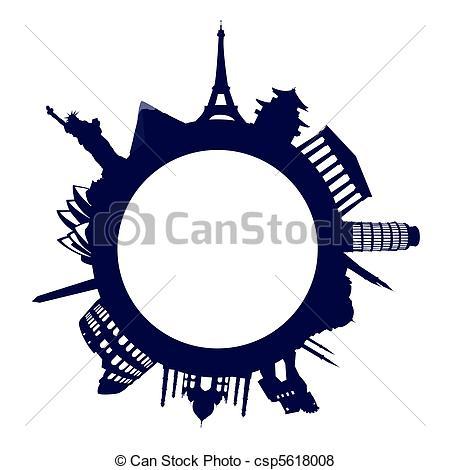 Landmark clipart world tour Art landmarks of csp5618011 Clipart