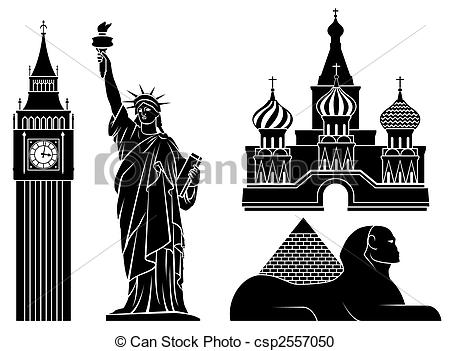 Landmarks of Clipart world Illustrations