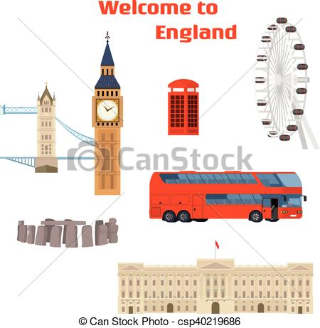 Landmark clipart famous place Of Vector landmark place and