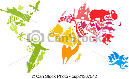 Landmark clipart famous place Made World Vector of of