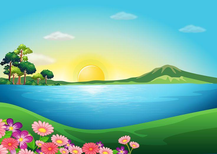 Countyside clipart nature cartoon On Яндекс ideas clipart Landscape