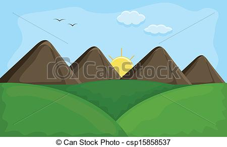 Background clipart mountain Collection Mountain mountain Sunset Landscape